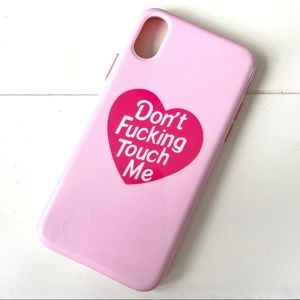 """""""Don't Fucking Touch Me"""" iPhone X/XS Case"""